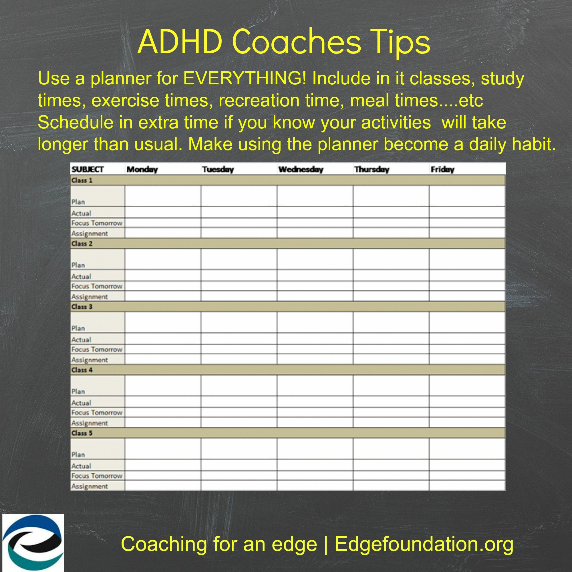 Get organized and get started to get ahead adhd coaching for For planner