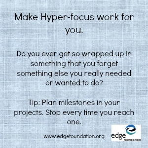 Make Hyperfocus work for you